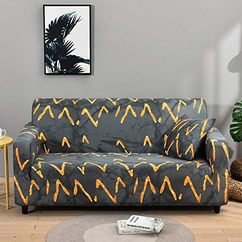 ASCV Peach Blossom Pattern Sofa Cover Stretch Elastic Sofa covers for Living Room Furniture Cover Couch Cover A1 3 seater