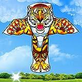 UYT Cometa De Dibujos Animados De Tigre/León Para Niños,fácil De Volar Para Juegos Y Actividades Al Aire Libre,fácil De Ensamblar Y Se Eleva Alto Una Excelente Manera De Disfrutar Del Verano Amigos