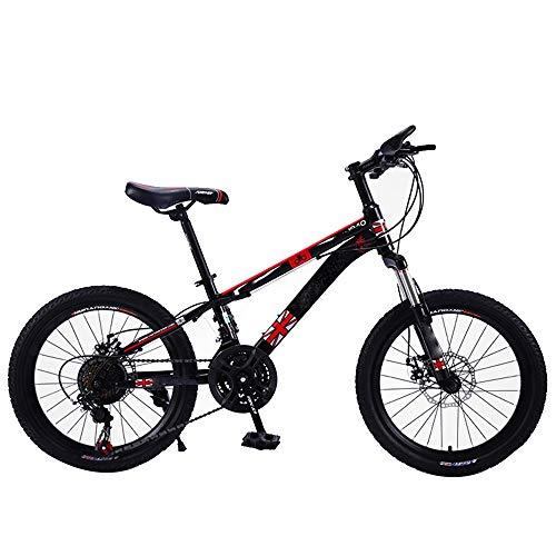 Axdwfd Kinderfiets Kinderfiets 21 versnellingen, Kinderfietsen 20 inch voorvork met schokdemper, fiets kind 2-15 jaar oud kinderjongenscadeau