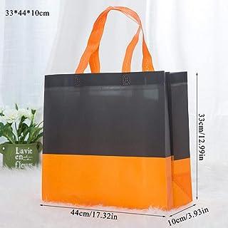 SXCYU SXCYU Damenhandtasche Shopper Canvas Eco-Einkaufstasche Faltbare umweltfreundliche Reisetasche aus Segeltuch für Frauen mit großer Kapazität, orange L