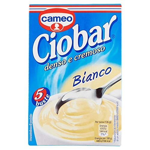 Ciobar - Preparato per bevanda, denso e cremoso, al gusto Cioccolato Bianco - 105 g  5 buste