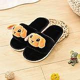Flip Flop-GQ Zapatillas de casa,Zapatillas de Felpa para bebés de Dibujos Animados Zapatillas de casa Lindas Zapatillas de es de Memoria sin Cordones @ Black
