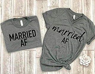 married af tees couple shirts matching couple tees just married t-shirts bridal shower gift idea wedding gift bride tee groom tee honeymoon shirts