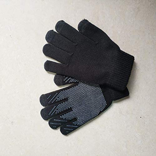 LOLIRYZ Knitted Gloves Autumn Winter Touch Screen Women Men Plush Thin Solid Warm Mittens Velvet Female Gloves - (Color: 1, Gloves Size: Free Size)