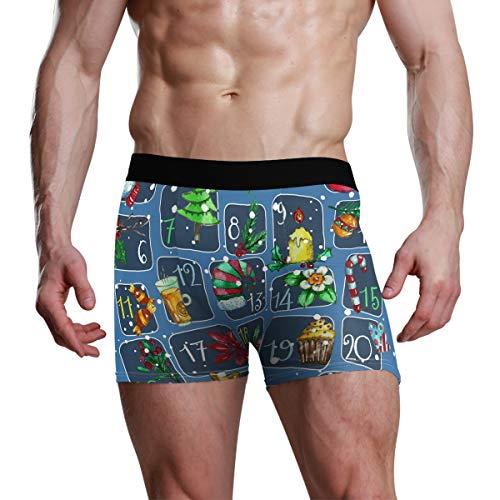 DXG1 Adventskalender Weihnachten Boxer Unterwäsche Teenager Jungen S M L XL Gr. M, Mehrfarbig
