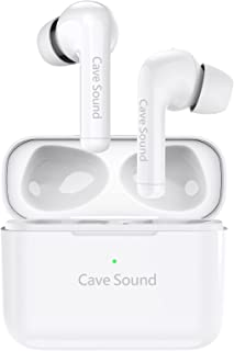$49 » Sponsored Ad - Cave Sound Wireless Earbuds Bluetooth in-Ear Headphones with 4 Microphones Active Noise Cancelling for Runn...