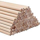 Holzstäbe - DIY Runden Naturholz Dübelstangen- Bastelstäbe für Kunst und Handwerks Projekte - Holzstäbchen für Dekoration Handwerker, Hobbyisten, Lehrer und Studenten