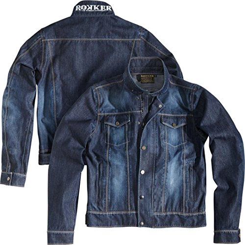 Rokker Motorradjacke mit Protektoren Motorrad Jacke Revolution Jacke blau L, Herren, Chopper/Cruiser, Sommer, Textil