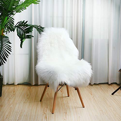 Soft Faux Fur Sheepskin Rug Chair Cover White Fluffy Area Rugs for Bedroom Furry Carpet Rug Floor Sofa Living Room...