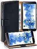 MoEx Étui Folio à Support vidéo Compatible avec LG G Flex 2 | Fente pour Argent/Cartes, Noir