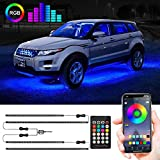 Car Underglow Lights, Under Car Led Lights 16 Million Colors Neon Accent Lights Kit,Car Led Strip Lights Sync to Music and App Control,Dc 12V