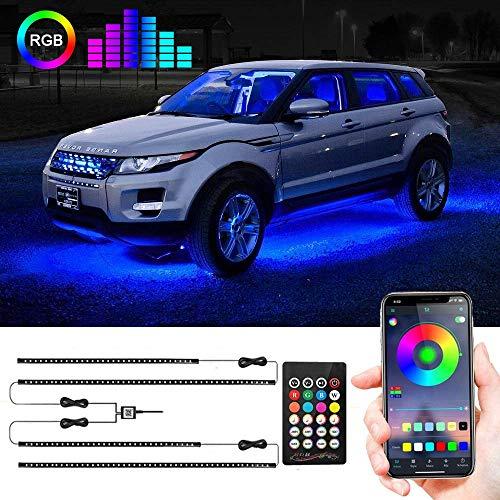 Car Underglow Lights, Under Car Led Lights 16 Million Colors Neon Accent Lights...