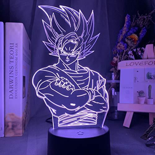 Dragon Ball Lampe Goku Figur Kinderzimmer Dekor Nachtlicht Cool Kinder Geburtstag Geschenk Anime Gadget LED Nachtlicht 3D Illusion