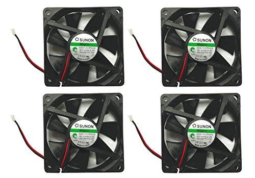 Sunon 70x70x15mm KDE1207PHV3 2Pin/2Wire 12v Low Speed Fan (4 Pack)