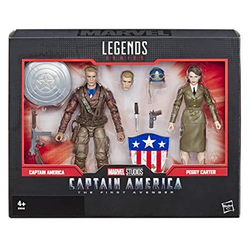 Marvel Legends Series Captain America: The First Avenger, 15 cm große Captain America und Peggy Carter Action-Figuren zum Film, 2er-Pack