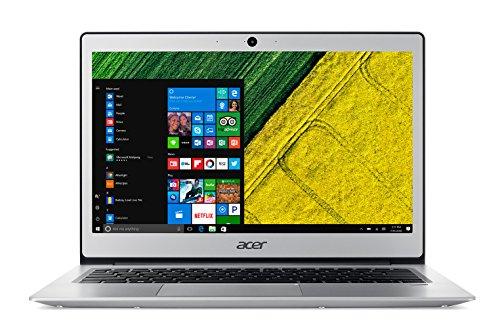 "Acer Swift 1 SF113-31-P6YM Notebook con display 13"" FHD IPS LED, Processore Intel Pentium N4200, RAM 4 GB DDR3, eMMC 64 GB, Argento [Tastiera Italiana]"