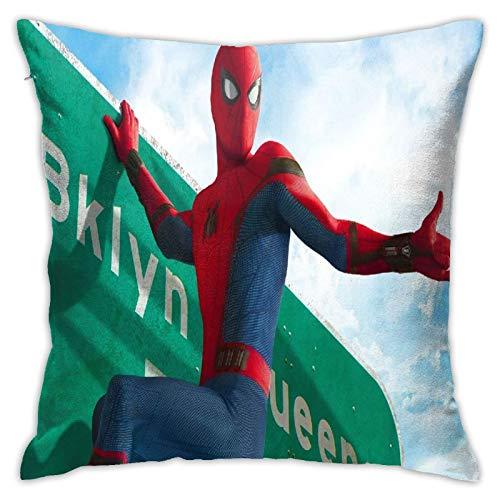 Funda de almohada de Spiderman para decoración del hogar, cojín cuadrado es excelente para interiores y exteriores