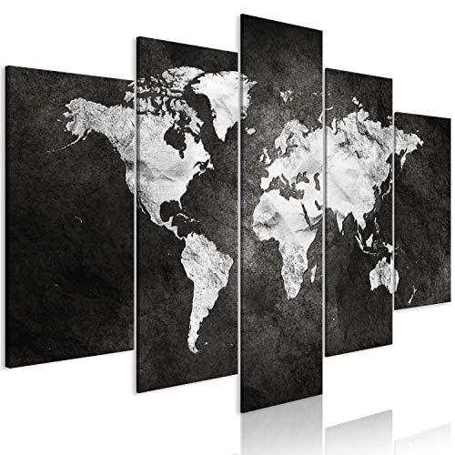 murando - Cuadro de Cristal acrílico Mapamundi 200x100 cm Impresión de 5...
