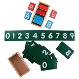 SM SunniMix Montessori A-Z Schleifpapier Alphabet Lernkarten + Nummern Karten Set