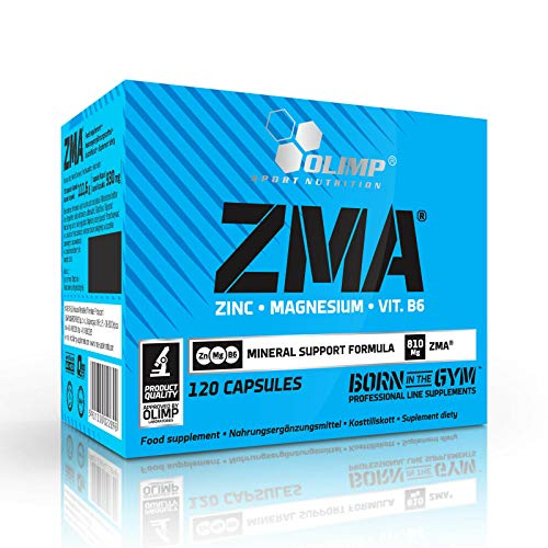 ZMA | Testosterone Booster for Men | Mineral Anabolic Food Supplement | Zinc Magnesium Vitamin B6 (120 Capsules)