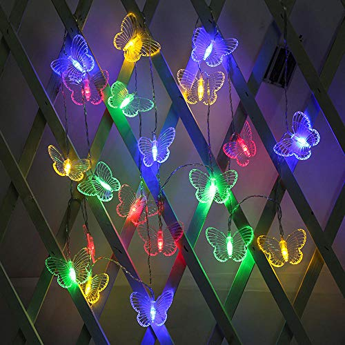 LED Lights LED Butterfly Curtain String Lights Battery USB Fairy Garlands Outdoor Garden Wedding Party Chrismas Decoration