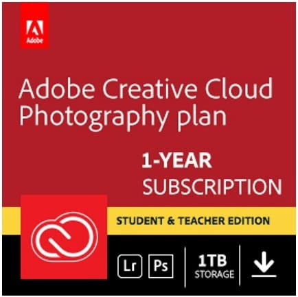 25% OFF Adobe Creative Cloud Photography plan and Ranking TOP16 Teach with Student 1TB