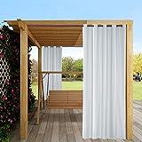 Mingfuxin - Cortinas para exteriores, 1 paneles, para jardín, patio, gazebo o protección solar, cortinas opacas impermeables y térmicas con ojales para porche, cabaña