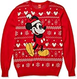 Disney Men's Ugly Christmas Sweater, Mickey/Red, XLT