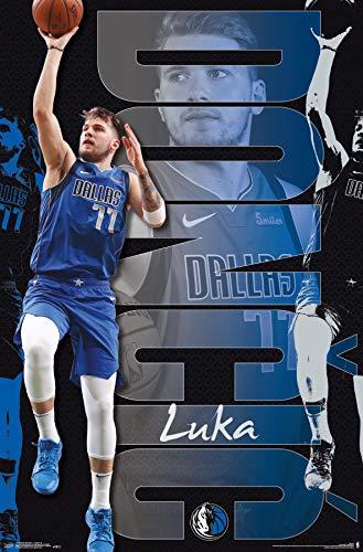 Trends International NBA Dallas Mavericks - Luka Doncic 19 Wall Poster, 22.375' x 34', Unframed Version