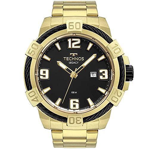 Relógio Technos, Pulseira de Aço Inoxidável, Masculino Dourado 2317AD/1P