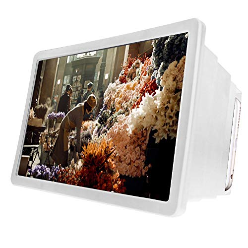 DANQI - Lupa portátil para teléfono móvil, antirreflectante, pantalla curva, proyector 3D para teléfono celular, proyector de pantalla de alta definición para vídeos, películas y juegos
