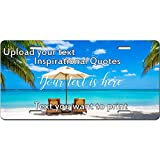 make your own license plate - Custom License Plate - Add Text Art Design and Make Your own Customized Automotive high Gloss Metal License Plate. Personalized Front License Plate Aluminum- 6