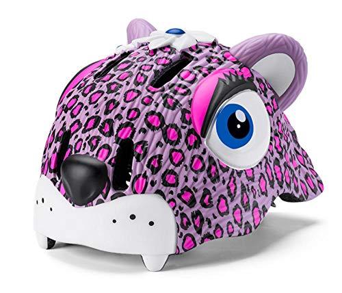 LIUKLAI Kinderhelm Fahrrad Rollschuh Balance Auto Beschützer Reiten Eisschnelllauf Outdoor Leopard Tier Helm