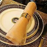 Gold Silber Serviettenringe, 6/12 Stück Metall Serviettenschnallen für Hochzeitsfeier Abendessen Jubiläum Tischdekoration - 4