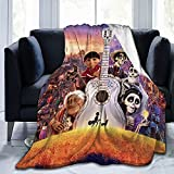 xiaoxiaoshen Miguel-Coco Blanket Coco Movie Theme Flannel Blanket Soft and Comfortable Sofa Blanket Four Seasons Warm Blanket Velvety Touch Exquisite Pattern