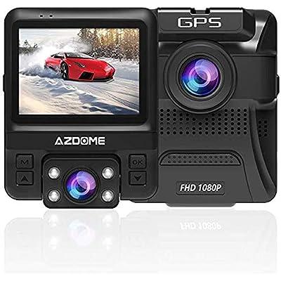 Dual Dash Cam Front and Inside, AZDOME Dash Cam...