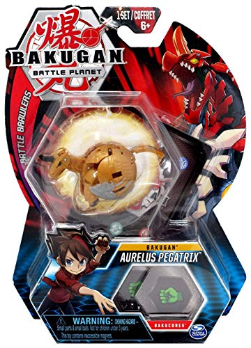 Bakugan, Aurelus Pegatrix, 2-inch Tall Collectible Transforming Creature, for Ages 6 and Up