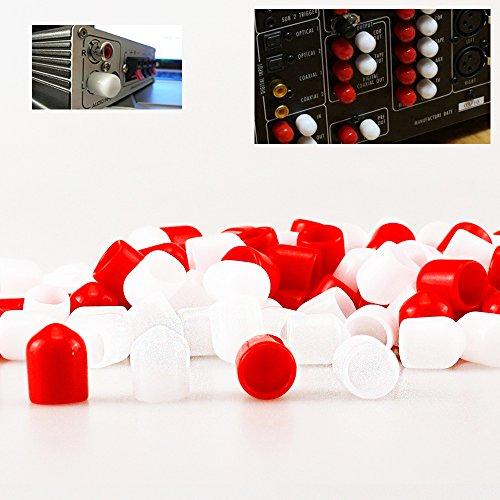 Vroegse 200 stks RCA Female Connector Socket Jack Plug Protector Cap Cover voor DVD Versterker AV RV Ontvanger Stof Proof