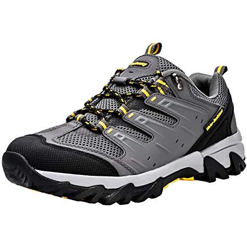 Zapatos de Senderismo Mujeres Calzado Deportivo de Exterior de Hombre Antideslizante Transpirable Zapatillas Casual Calzado de Acampada y Marcha Gris EU 44