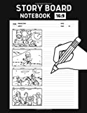 Storyboard Notebook 16:9: Sketchbook Template Panel Pages with 16:9 Blank Storyboard Frames (Vol.2)   For Directors, Animators & Creative Storytellers   Size 8.5x11 inches (200 pages)
