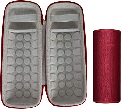Khanka Estuche duro bolsa de viaje para Ue Boom 3 Ultimate Ear Boom3 altavoz-rojo