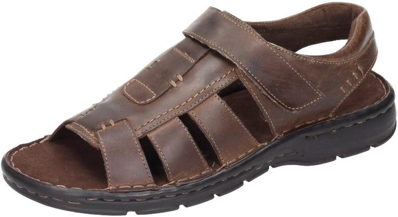 Comfortabel Mens Sandalen, brown, Leder, 610200-2