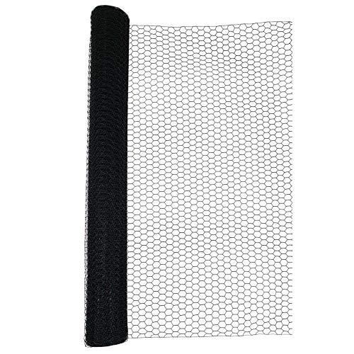 Sechseckgeflecht 25mm Schwarz 25m Hasendraht Kaninchendraht 1,2mm (150cm)