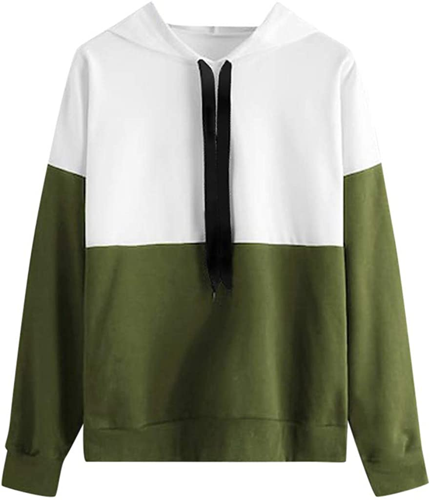 Hoodies for Girls, Misaky Autumn & Winter Casual Colorblock Long Sleeve Hooded Pullover Sweatshirt Tops