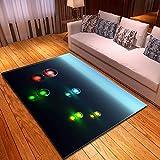 Alfombra Moderna Gemas Luminosas Creativas Alfombra Antideslizante 3D para Sala De Estar Comedor Dor...