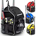 DashSport Baseball Bag Youth Backpack – Spacious 18 x 12 x 10 inches