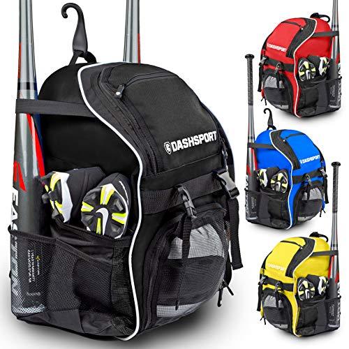 DashSport Baseball Bag Youth Backpack – Spacious 18 x 12 x 10 inches