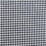 0,5m Vichy-Karo klein 3mm Stoff schwarz/ weiß Meterware