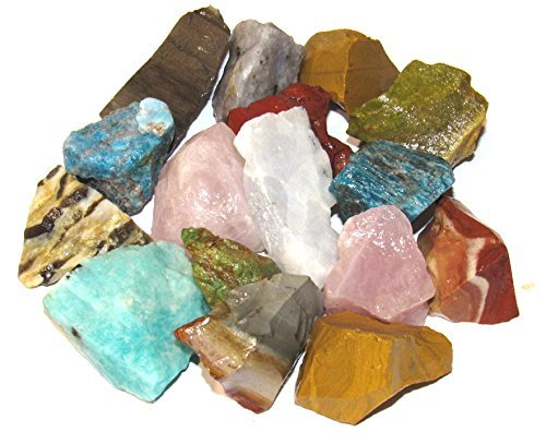 Zentron Crystal Collection: 0,9 kg Madagaskar Edelstein Mix für Tumbling, Cabbing, Polishing, Wicca und Reiki Healing