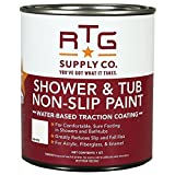 Non slip traction coating provides sure footing to help prevent slips and falls in showers and bathtubs. Visually appealing, long-lasting finish is easy to clean Comfortable, non-abrasive traction additive feels good on sensitive skin and bare feet, ...